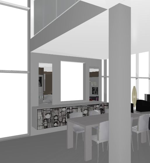avant-projet d'interieur contemporain