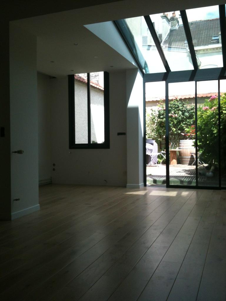 Particulier rémois : création d'une pièce à vivre de 35 m2. Maître d'oeuvre.