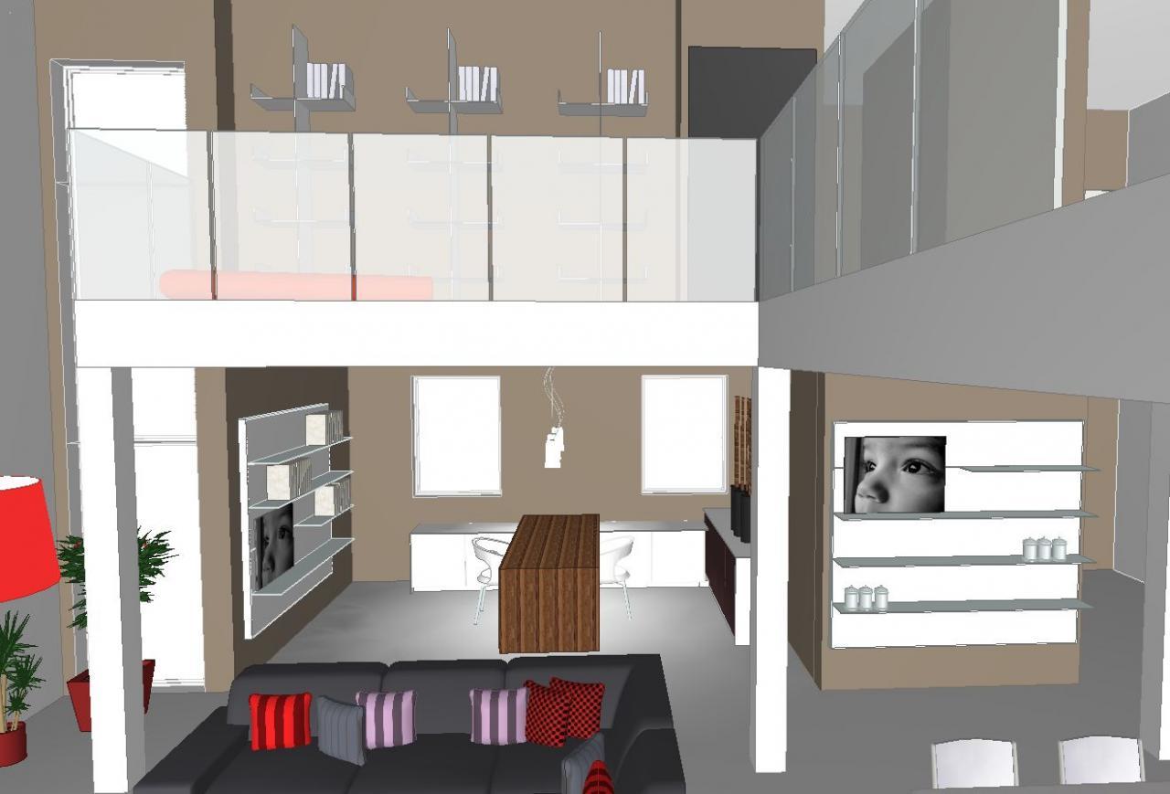 projet d'un interieur contemporain